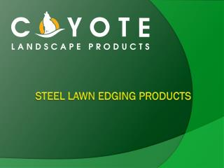 STEEL LAWN Edging Products