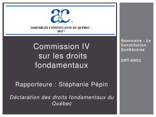 Séminaire  :  La Constitution Québécoise DRT-6901