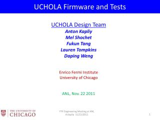 UCHOLA Firmware and Tests