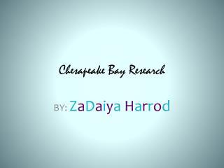 Chesapeake Bay Research