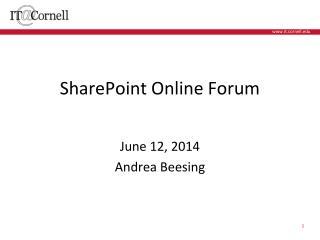SharePoint Online Forum