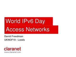 World IPv6 Day