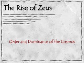 The Rise of Zeus
