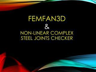 FEMFAN3D  &  Non-linear complex  steel joints checker