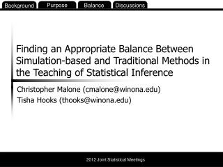 Christopher Malone (cmalone@winona.edu) Tisha  Hooks (thooks@winona.edu)