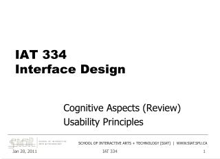 IAT 334 Interface Design