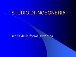 STUDIO DI INGEGNERIA