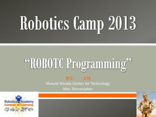 "Robotics Camp 2013 ""ROBOTC Programming"""