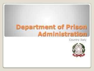 Department of Prison Administration