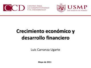 Crecimiento económico y desarrollo financiero
