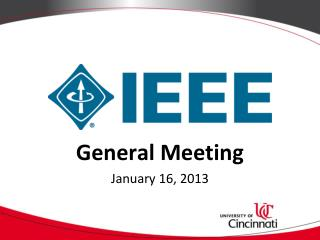 General Meeting January 16, 2013