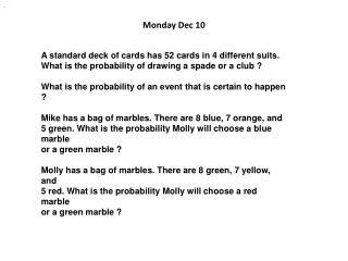 Monday Dec  10
