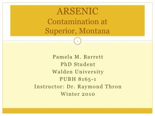 ARSENIC Contamination at  Superior, Montana