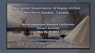 Aboriginal Governance in Eeyou Istchee Northern Quebec, Canada