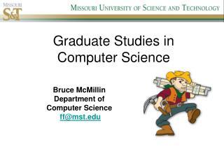 Graduate Studies in Computer Science