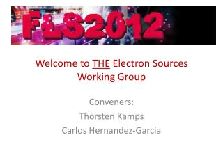 Welcome to  THE  Electron Sources Working Group
