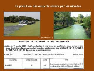 La pollution des eaux de rivière par les nitrates