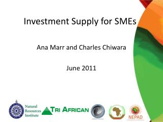 Investment Supply for SMEs