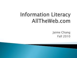 Information Literacy AllTheWeb.com