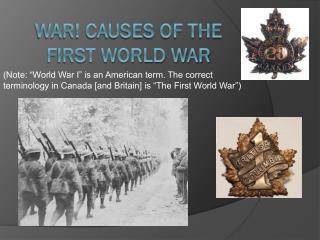 WAR! Causes of the First World War