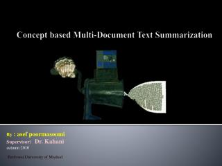 Concept based Multi-Document Text Summarization