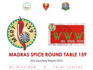 MADRAS  SPICE ROUND  TABLE  159