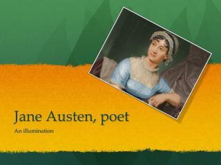 Jane Austen, poet