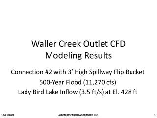 Waller Creek Outlet CFD Modeling Results
