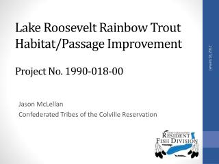 Lake Roosevelt Rainbow Trout Habitat/Passage Improvement Project No. 1990-018-00
