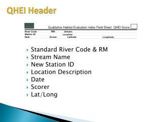 QHEI Header
