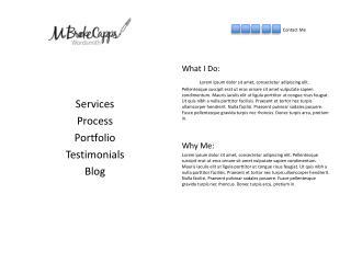 Services Process Portfolio Testimonials Blog