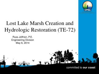 Lost Lake Marsh Creation and Hydrologic Restoration (TE-72)
