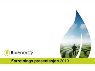 Forretnings presentasjon  2010