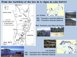 Etude des tourbières et des lacs de la région du  L ake District