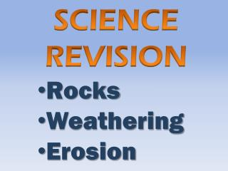 Rocks Weathering Erosion