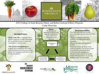 2012 College of Saint Benedict Marie and Robert Jackson Fellows Program Collin  Motschke