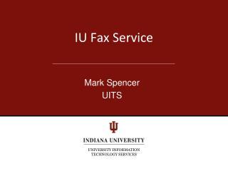 IU Fax Service