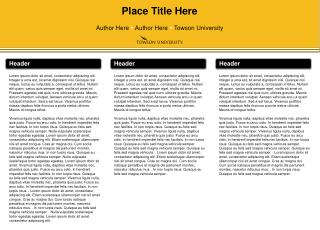 Place Title Here Author  He re  Author  Here   Towson University