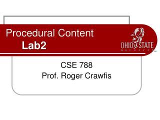 Procedural Content Lab2