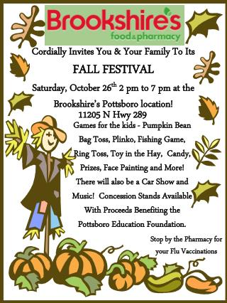 Cordially Invites You & Your Family To Its  FALL FESTIVAL