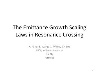 The Emittance Growth Scaling Laws in Resonance Crossing