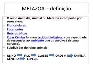 METAZOA – definição