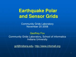 Earthquake Polar and Sensor  Grids