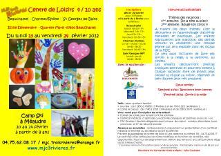 04.75.62.08.17 / mjc.troisrivieres@orange.fr www.mjc3rivieres.fr
