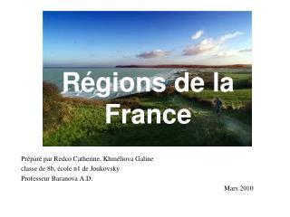 R é gions  de la France