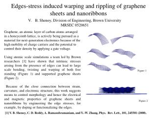 Edges-stress induced warping and rippling of  graphene sheets and  nanoribbons