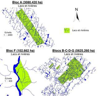 Bloc F (102.662 ha) Lacs  et  rivières