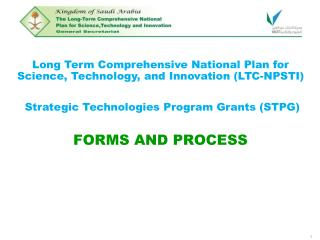 Long Term Comprehensive National Plan for Science, Technology, and Innovation (LTC-NPSTI)