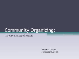 Community Organizing: