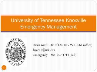 University of Tennessee Knoxville Emergency Management